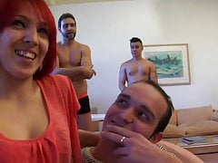 My first DP: Pamela, ass-virgin, drilled by two cocks at the