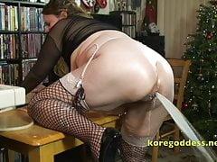 Busty babe squirts milk enema for her boyfriend