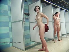 Hidden camera in the public shower