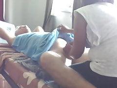 Penetrating my masseur