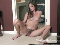 Vanessa Bush slides off her pajamas to have fun