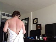 Vacation Sister Changing - Towel Accidentally Drops