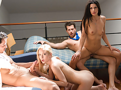 LETSDOEIT - Swinger Party Turns into Wife Swap Foursome