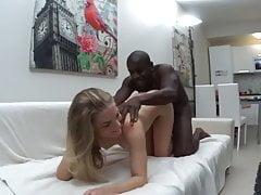 hot girl enjoying her black lover