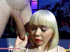 Cherry English first Anal Monster Cock - Extreme Bukkake