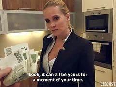 Blonde girl fuck for money